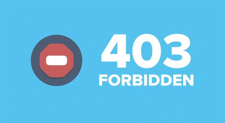 fix 403 forbidden error