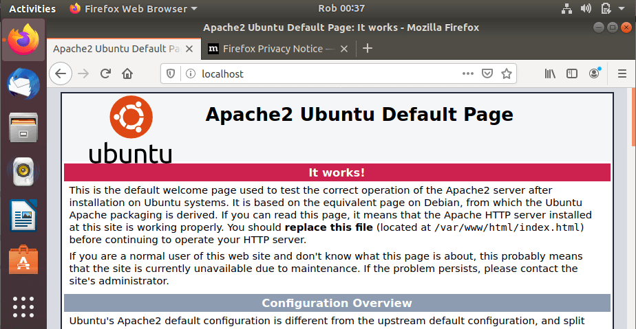 install apache on ubuntu