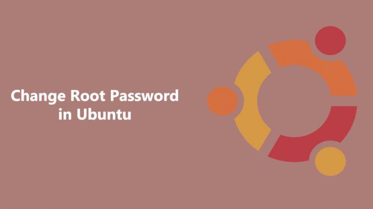 change root password in ubuntu