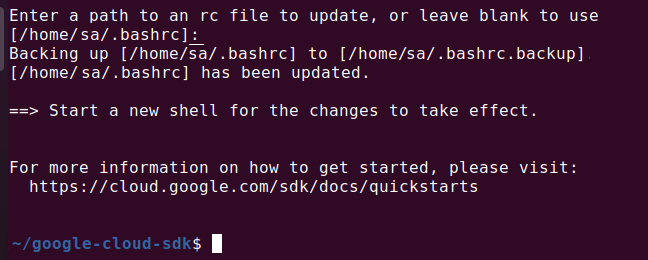 how to install google sdk in ubuntu