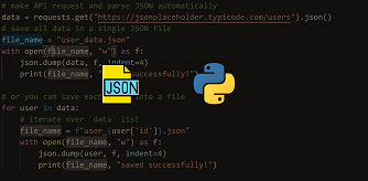 extract data from json file in python