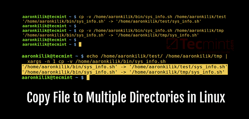 copy file to multiple directories in linux