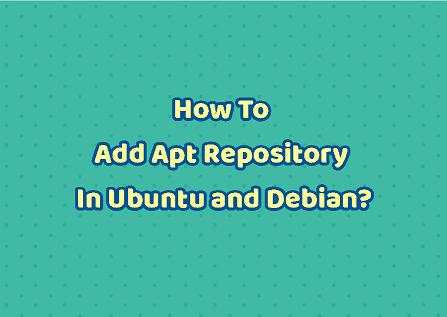 add repository in ubuntu/debian linux
