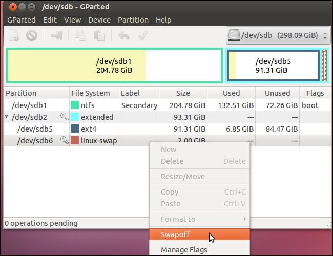 enlarge or shrink partition in ubuntu