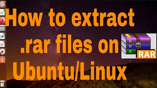 unrar file with password in linux