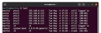 user login linux
