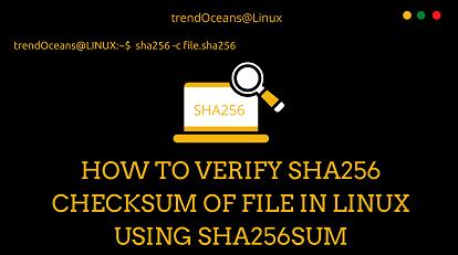 verify checksum in linux
