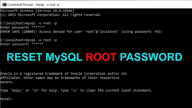 change root password in mysql