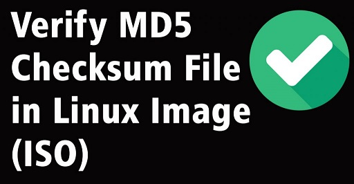 generate md5 checksum file in linux