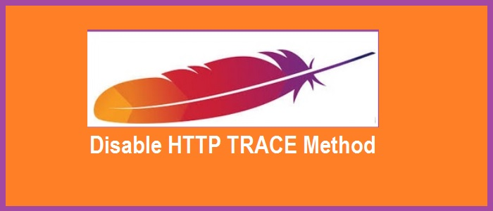 disable http trace method in apache