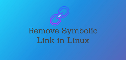 delete symbolic links
