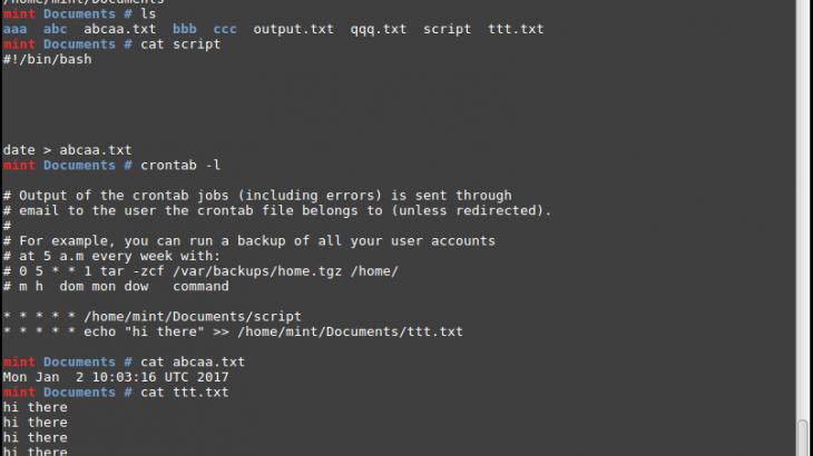 run shell script crontab