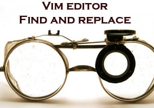 find and replace in vi editor