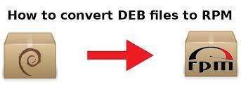 convert deb to rpm file