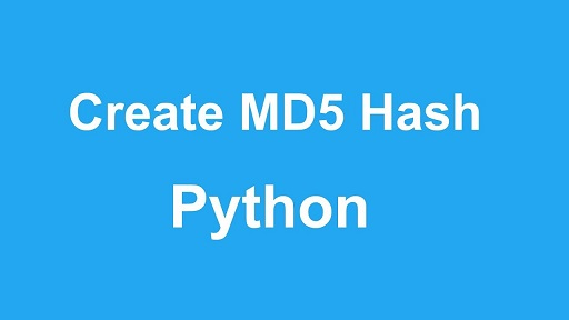 get md5 hash of string