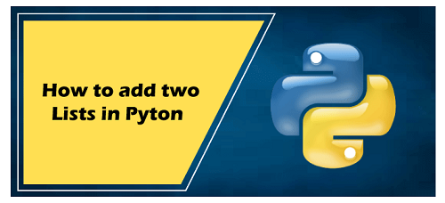 add two lists in python