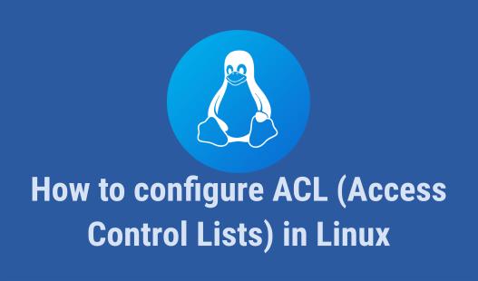 configure access control lists