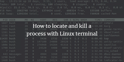 kill unresponsive process in linux