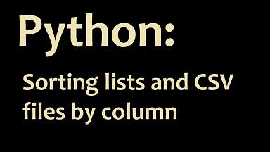 sort csv in python
