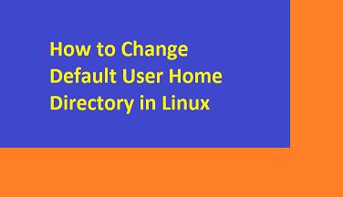 change default home folder in linux