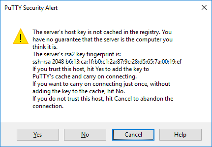 putty security alert