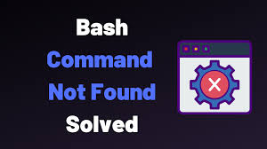 bash command not found