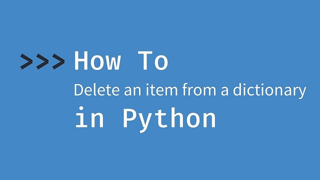 delete dictionary item in iteration