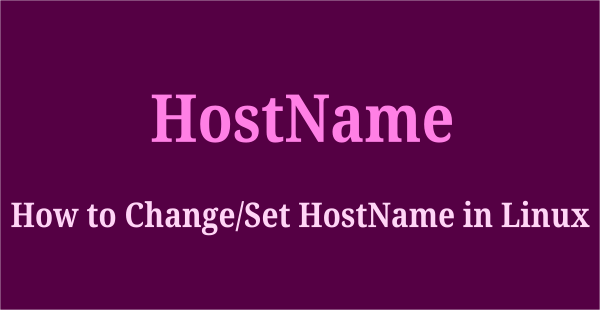 set or change hostname in linux