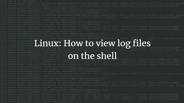 view linux log files